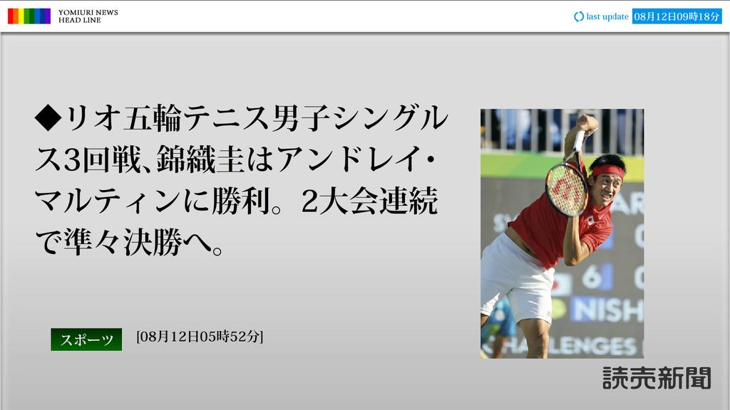 読売新聞全画面ニュース【Bタイプ】