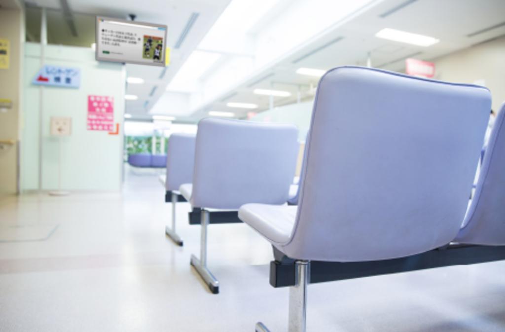 デジタルサイネージ利用例 病院や銀行の待合スペース