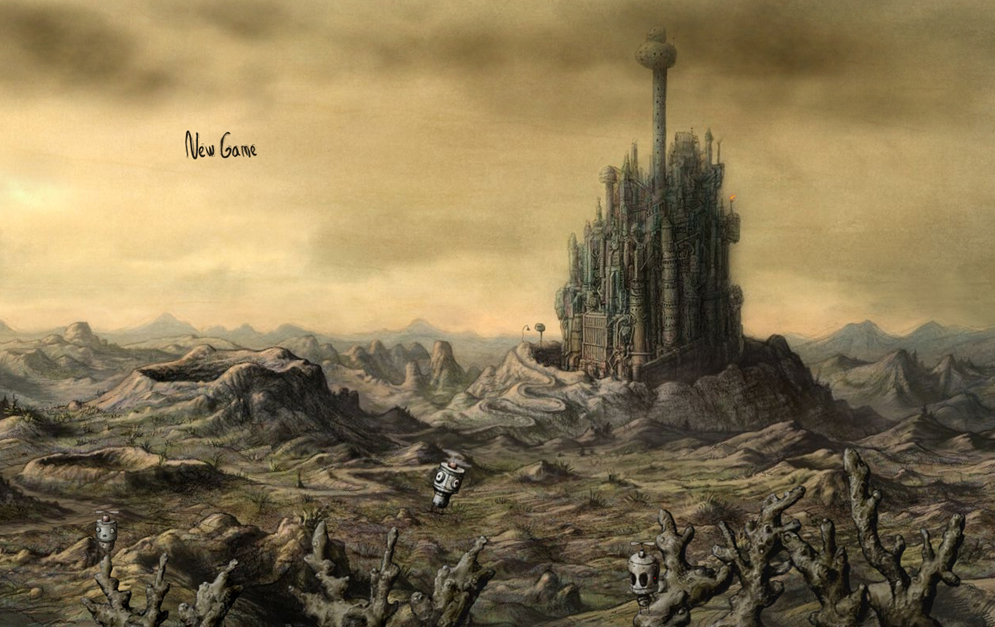 少し物悲しい雰囲気のポイント&クリックゲーム「Machinarium」