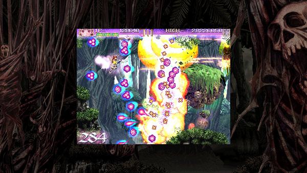 画面の左右から現れる敵を倒しながらステージを進める。弾幕系らしく、高難度では画面中に敵弾が溢れる