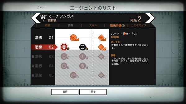 4つの兵科に分かれており、それぞれに異なった武器やスキルを持っている