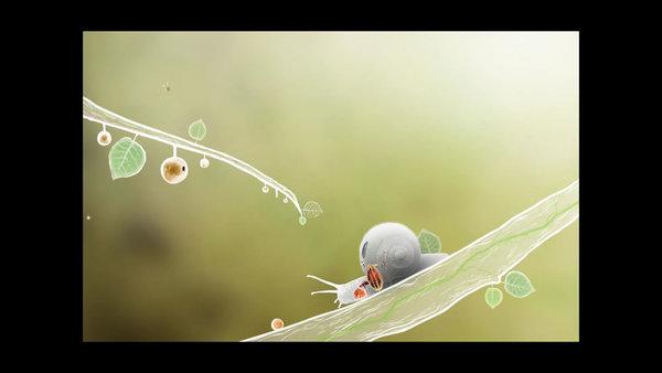 ハチやカタツムリをモチーフにしたキャラクターが登場する