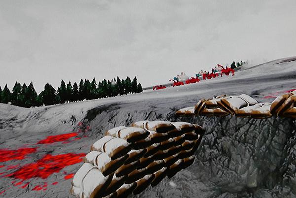 最後のシーンでは地平線の彼方からBETAの大群が押し寄せる。プレイヤーはたった一人で塹壕に放り込まれ、唯一の頼みである銃もジャムってしまい使えない状態に